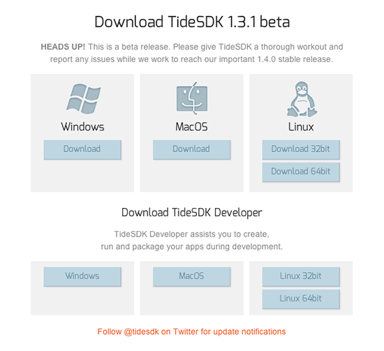 download tidesdk